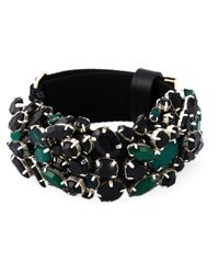 Marni | Black Strass Embellished Bracelet | Lyst