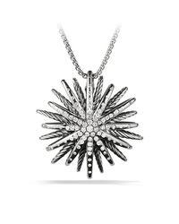 David Yurman | Metallic Starburst Large Pendant Necklace With Diamonds | Lyst