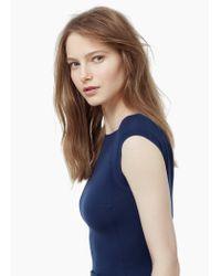 Mango - Blue Cut-out Bodycon Dress - Lyst
