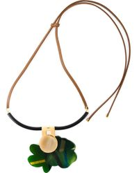 Marni | Green Flower Pendant Necklace | Lyst