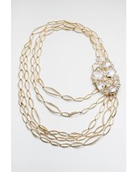 Alexis Bittar - Metallic Jagged Diamond Multi Strand Link Necklace You Might Also Like - Lyst