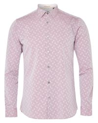eff9586185f6 Ted Baker Longhop Spot Jacquard Shirt in Red for Men - Lyst