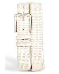 Mezlan - White 'diver' Leather Belt for Men - Lyst
