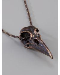 Pamela Love - Metallic Skull Necklace - Lyst