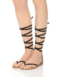 Cornetti - Black Elia Wrap Sandals - Lyst