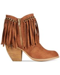Naughty Monkey | Brown Not Rated Ayita Fringe Booties | Lyst