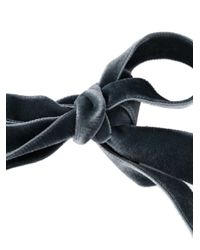 Alberta Ferretti   Gray Velvet Ribbon Necklace   Lyst
