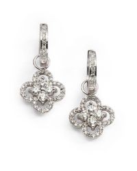 KC Designs | Metallic Pavà Diamond & 14k White Gold Floral Convertible Drop Earrings | Lyst