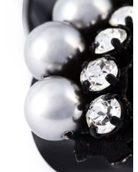 Shourouk | Black 'bow' Pearl Brooch | Lyst