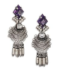 DANNIJO | Metallic Clea Crystal Drop Earrings | Lyst