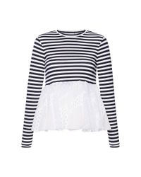 Natasha Zinko - White Vintage Lace Shirt - Lyst