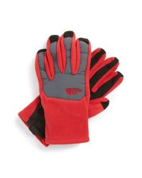 The North Face | Blue 'denali' E-tip Gloves for Men | Lyst