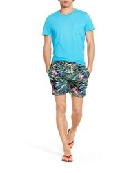 Polo Ralph Lauren | Blue Navy Hibiscus Print Swimshorts for Men | Lyst