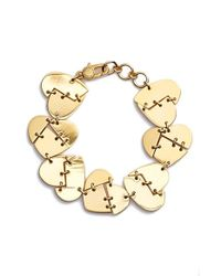 Marc By Marc Jacobs | Metallic 'broken Hearted' Bracelet - Oro | Lyst