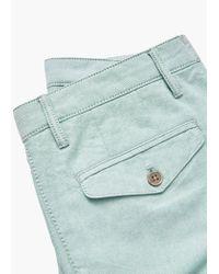 Mango - Green Cotton Bermuda Shorts for Men - Lyst