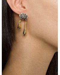 Rodarte | Metallic Flower Pendant Earrings | Lyst