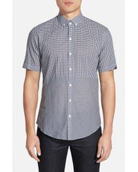 Zachary Prell - Blue 'ricker' Regular Fit Short Sleeve Gingham Sport Shirt for Men - Lyst