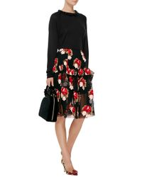 Simone Rocha - Black Embellished Merino & Cashmere Sweater - Lyst