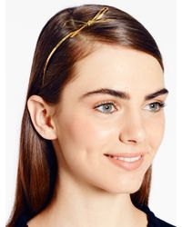 kate spade new york | Metallic Skinny Mini Metal Headband | Lyst