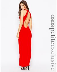 ASOS - 90s High Neck Maxi Dress With Low Back - Black - Lyst
