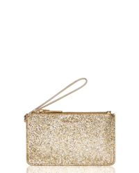 kate spade new york | Metallic Glitter Bug Slim Bee | Lyst