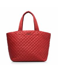 MZ Wallace - Red Poppy Oxford Large Metro Tote - Lyst