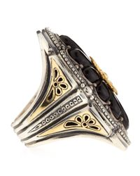 Konstantino - Multicolor Carved Floral Onyx Iris Ring - Lyst