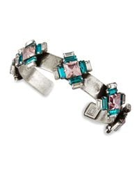 DANNIJO | Multicolor Alexia Crystal-Station Cuff Bracelet | Lyst