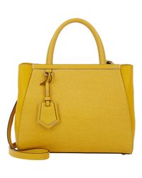 Fendi - Yellow 2Jours Mini Satchel - Lyst