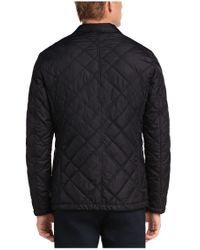 BOSS Orange - Black Jacket 'bolday-w' In A Quilted Effect for Men - Lyst