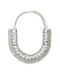Forever 21 - Metallic Mixed Chain Statement Necklace - Lyst