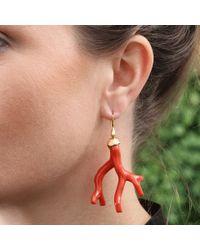 Lucifer Vir Honestus - Red Coral Earrings - Lyst