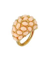 Kenneth Jay Lane | Pink Cabochon Cluster Ring | Lyst