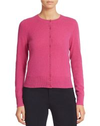 Lord & Taylor | Purple Solid Cashmere Cardigan | Lyst