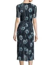 Jason Wu - Multicolor Watercolor Floral-print Silk-blend Sheath Dress - Lyst
