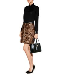 Ralph Lauren Black Label | Multicolor Leather Leopard Print Skirt - Animal Prints | Lyst