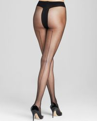 Pretty Polly | Black Alice + Olivia By Back Seam Tights | Lyst