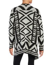 NIC+ZOE | Black Mirrored Angles Sweater Jacket | Lyst