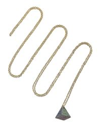 Noor Fares | Green Pyramid 18-Karat Gold Multi-Stone Necklace | Lyst