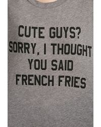 Forever 21 - Gray Cute Guys French Fries Tee - Lyst