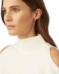 Adina Reyter - Metallic Pave Diamond Bar Earring - Lyst
