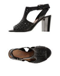Donna Più - Black Sandals - Lyst