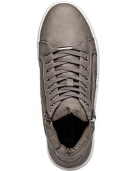 0470eefabd1 Steve Madden Eiris Grey High Top Sneaker in Gray - Lyst