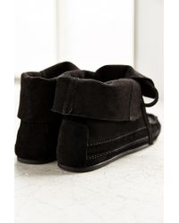 Urban Outfitters - Black Moccasin Ankle Boot - Lyst