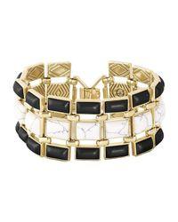 House of Harlow 1960 - Metallic Azure Mosaic Bracelet - Lyst