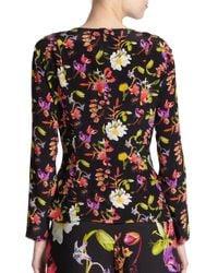 ESCADA - Black Floral Printed Top - Lyst