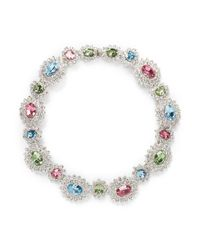 Kenneth Jay Lane - Multicolor Crystal Sunflower Necklace - Lyst