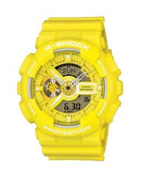 G-Shock - Yellow Ana-digi Watch for Men - Lyst