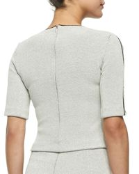 Rebecca Taylor - Gray Half-sleeve Jacquard Top - Lyst
