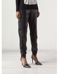 Rag & Bone - Black Leather Pajama Jeans - Lyst